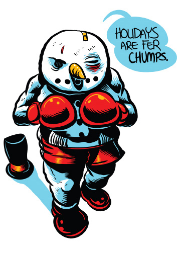 Punching Snowman